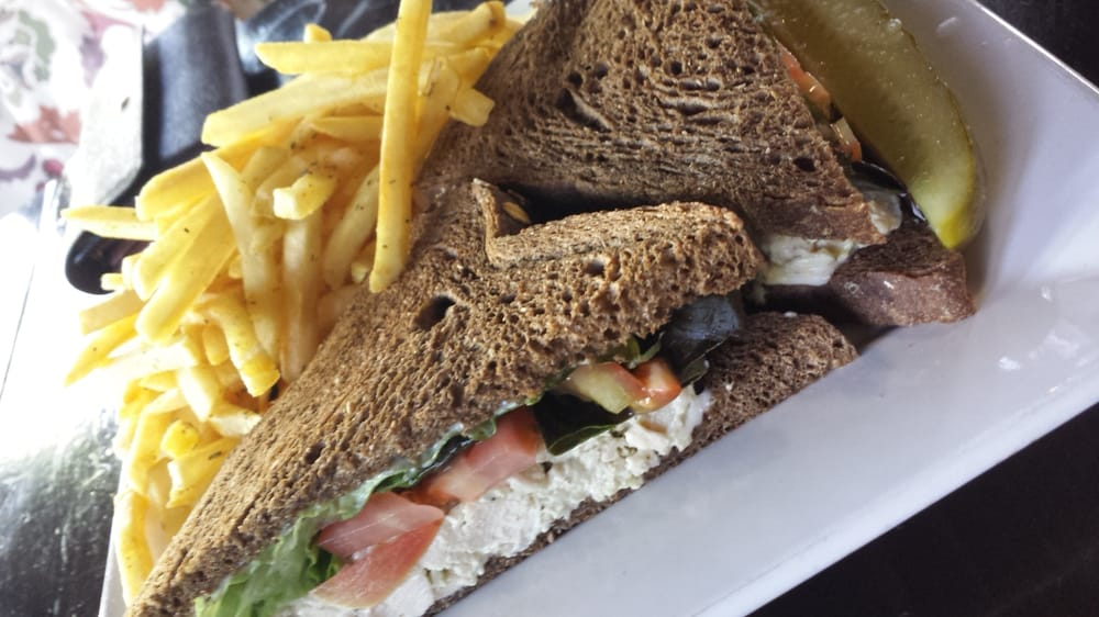 Chicken Salad Sandwich With Rosemary Fries