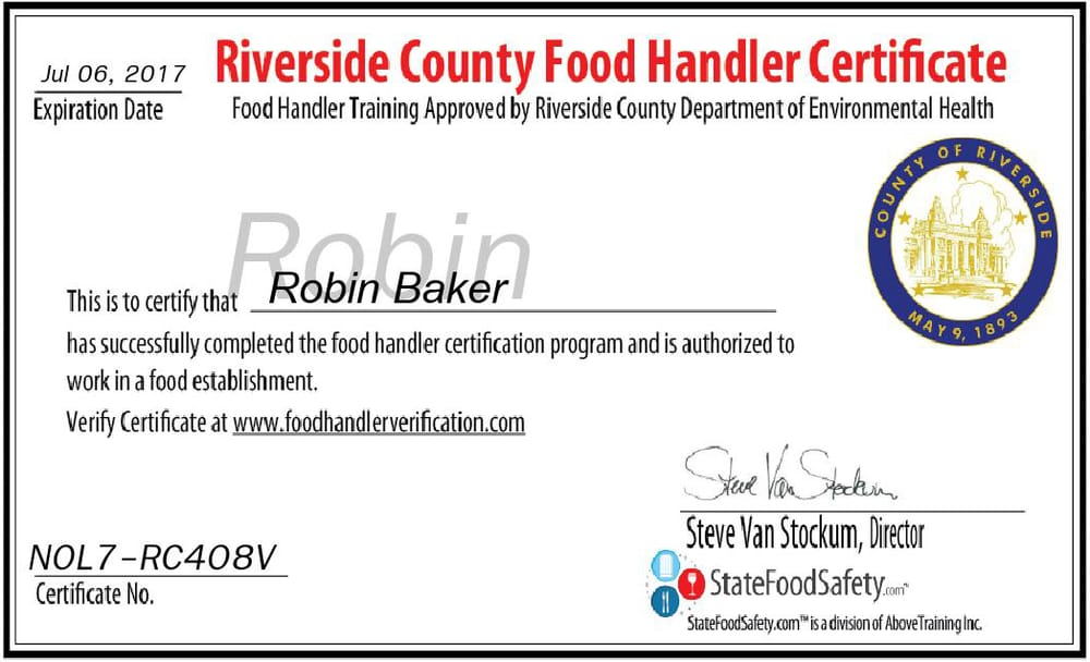 how to prepare for food handlers certificate
