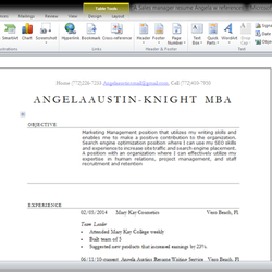 angela s resume writing employment agencies 765 2nd st sw vero