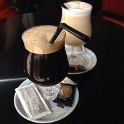 Café de la Paix - Paris, France. Ice coffee and ice cappucino.