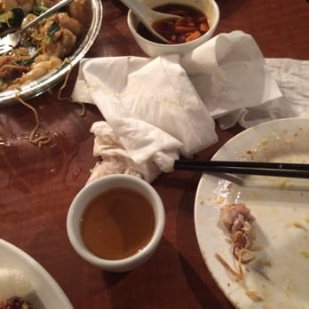 Photo of North Garden Restaurant - Coquitlam, BC, Canada. Waiter spilled tea everywhere