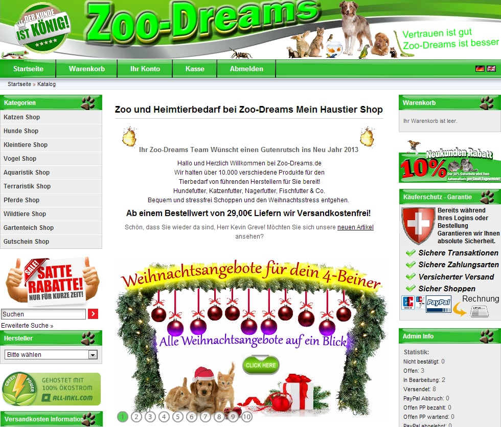 zoo dreams f r tierbedarf zoo und heimtierbedarf. Black Bedroom Furniture Sets. Home Design Ideas