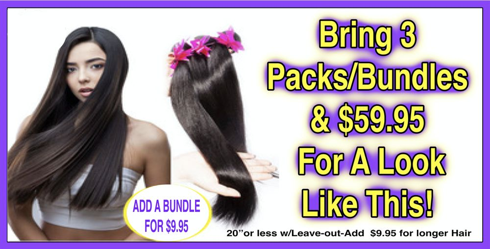 Quick Weaves $49.95 Salon