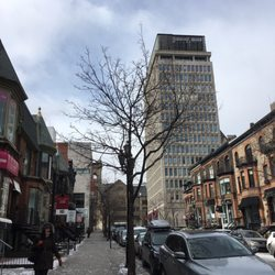 Photo Of Comfort Suites Downtown Montreal Qc Canada View Right Outside The