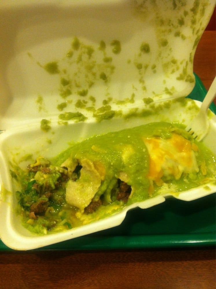 Wet Burrito With Salsa Verde Yelp