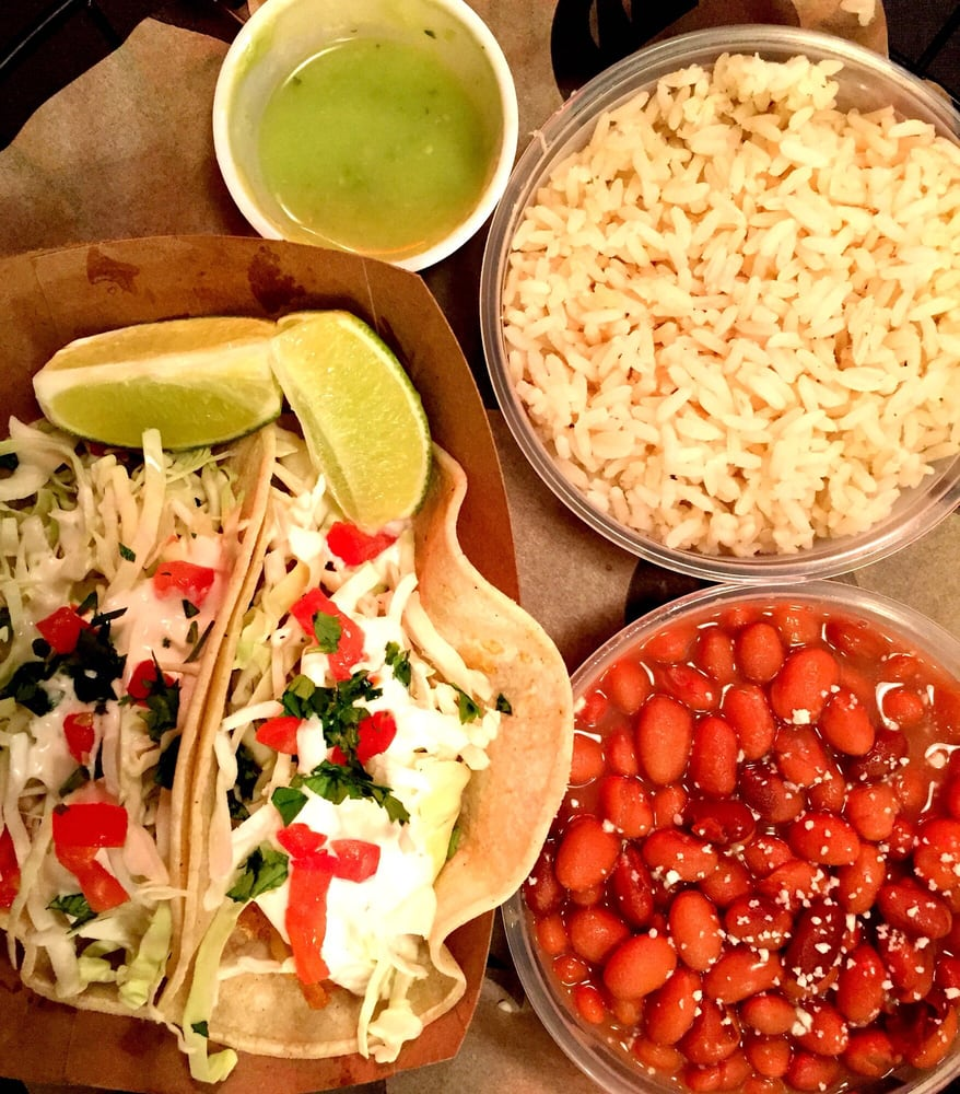 Fish tacos rice and beans it won 39 t feed away your for Seasalt fish grill