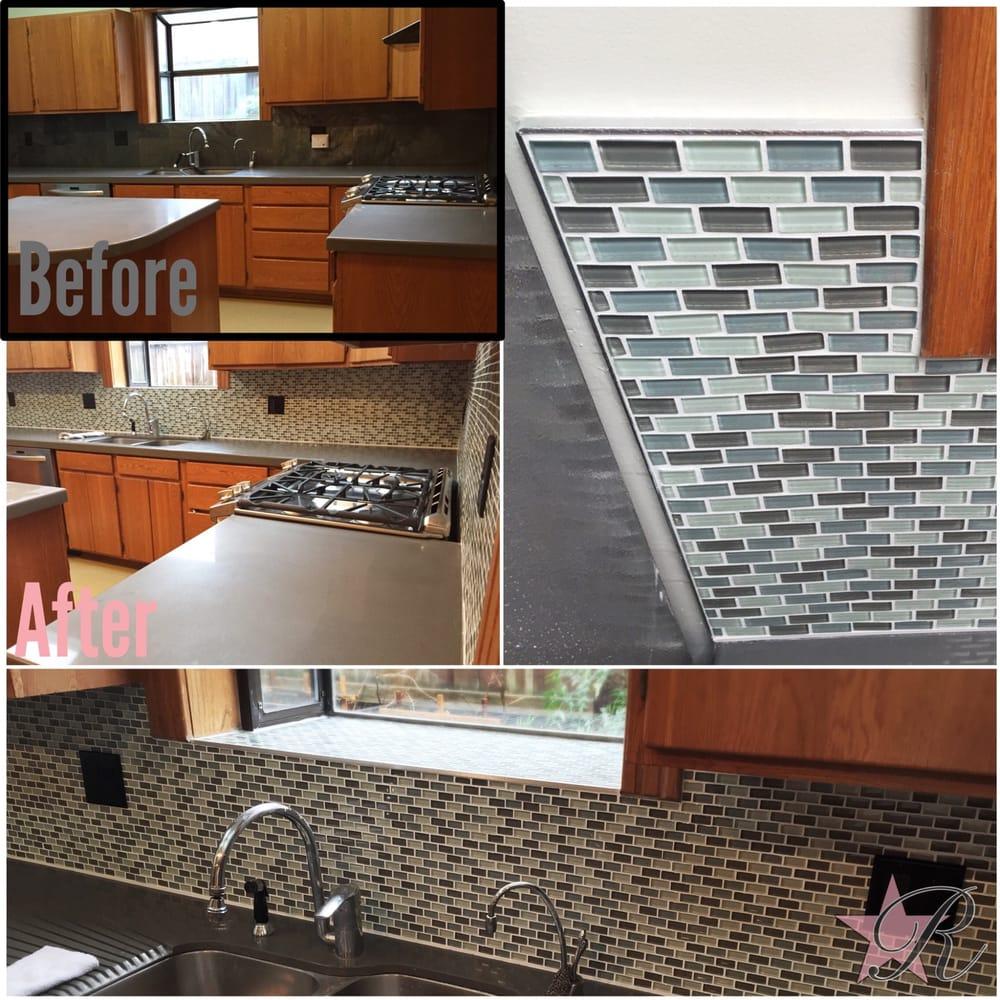 states tile backsplash using schluter kerdi board and jolly trim