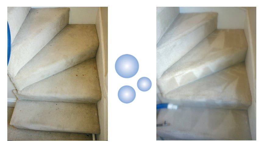 Photo Of Cleanpro Gloucester Ma United States Carpeted Stairs Before And After