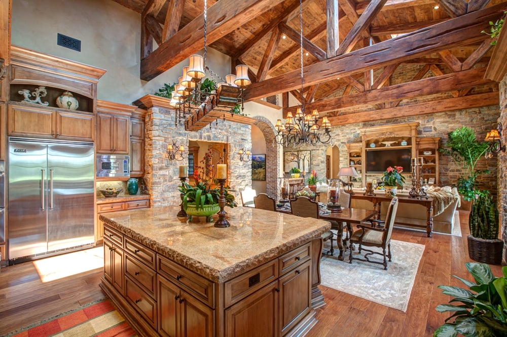 Open Kitchen Design in Rancho Santa Fe - Fine Stonework ...