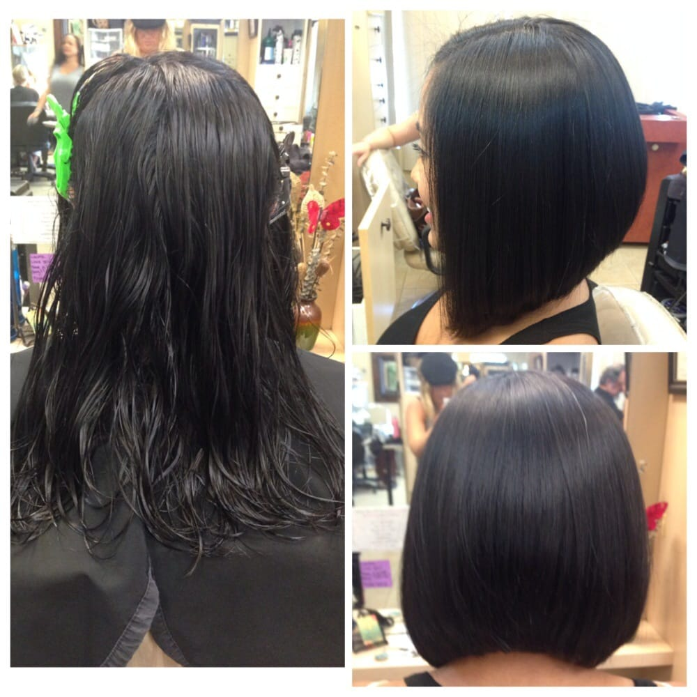 A line bob and keratin treatment by laura w yelp for Salon kerat in