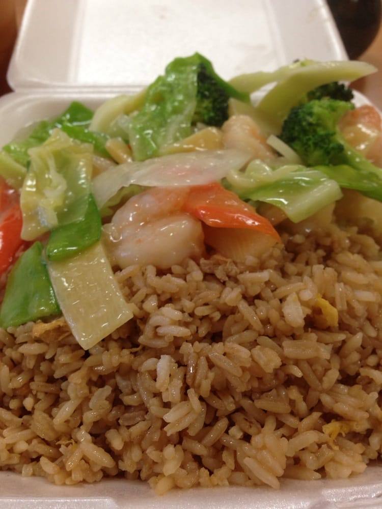 Shrimp veggie fried rice lunch special yelp for Aiyara thai cuisine menu