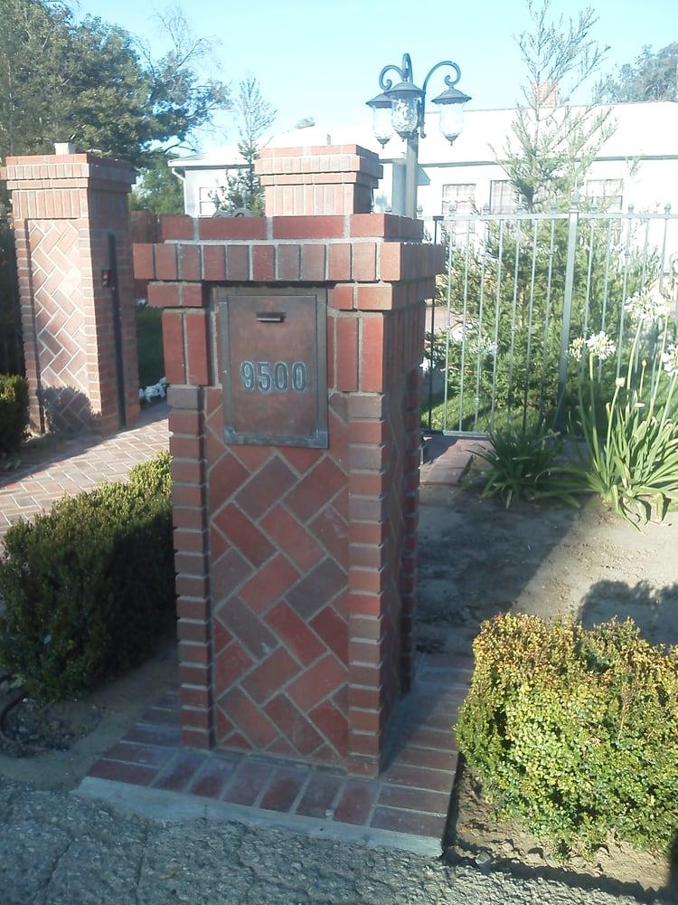 Brick Pilasters And Mailbox Herringbone Pattern Yelp