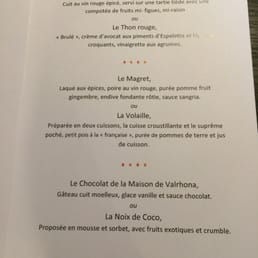 Menu Restaurant Marguerite Lyon
