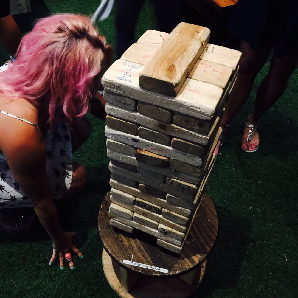 Giant Jenga - Yelp