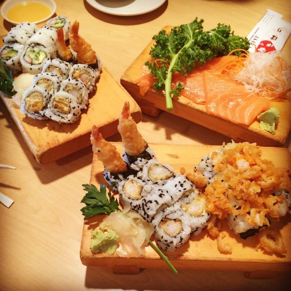Shrimp tempura roll shrimp crunch roll and salmon yelp for Asaka japanese cuisine