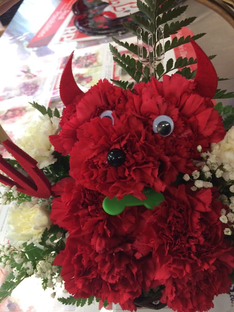 Red Puppy Flowers for Valentine\'s Day - Yelp