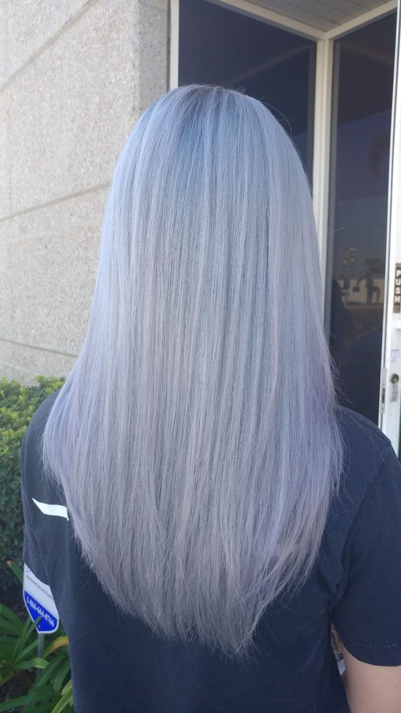 My Hair That Took Three Tries Due To Having To Bleach It So Times