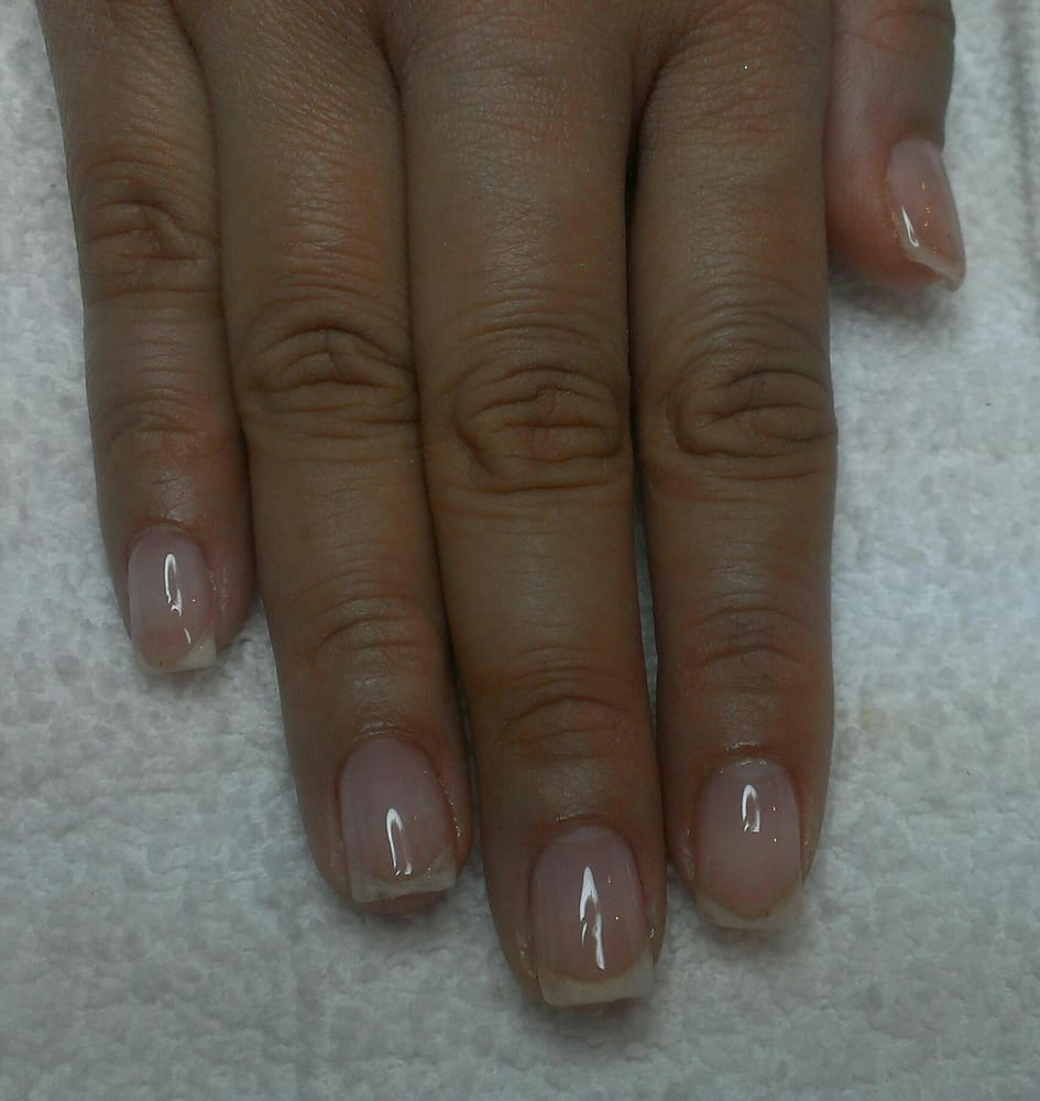 Clear gel overlay on natural nails. - Yelp