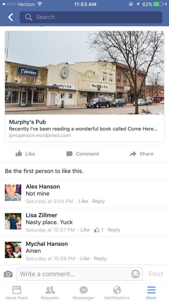 Murphy's Pub: 123 Main St, Black River Falls, WI