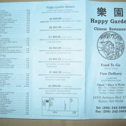 s for Happy Garden Chinese Restaurant