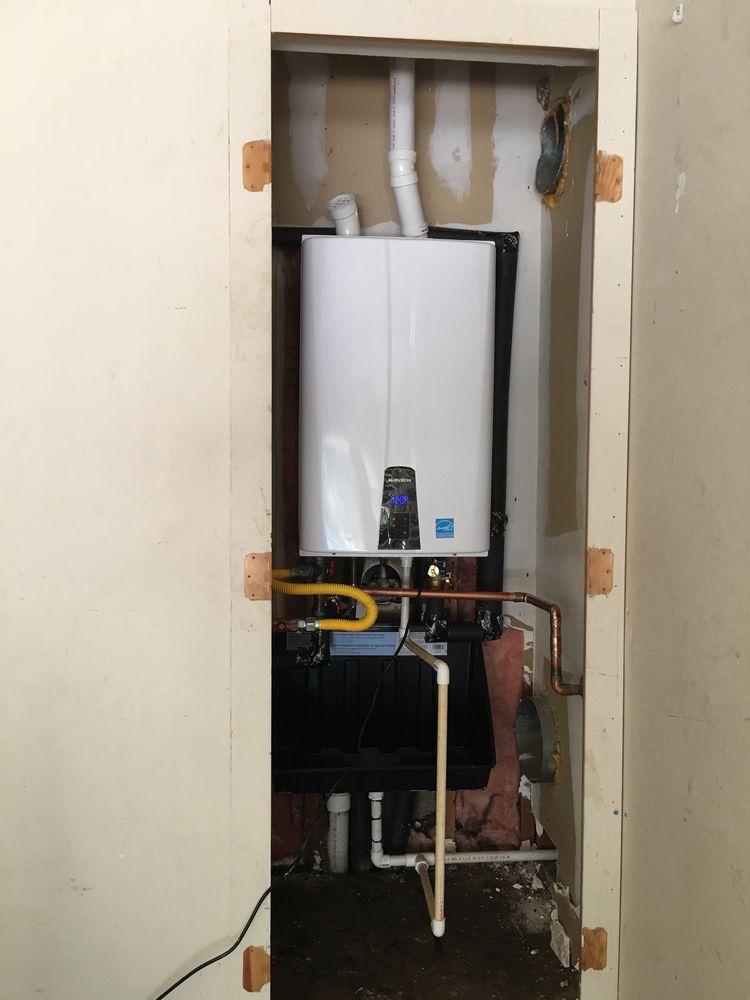 Navien, high efficiency condensing tankless water heater