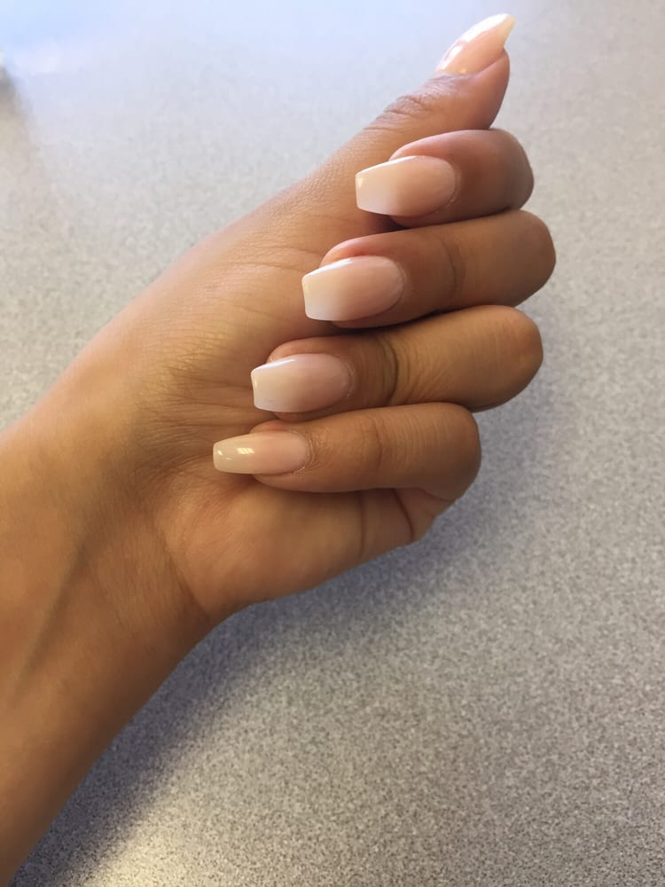 Coffin Nails W Light Pink Done By Amy Yelp