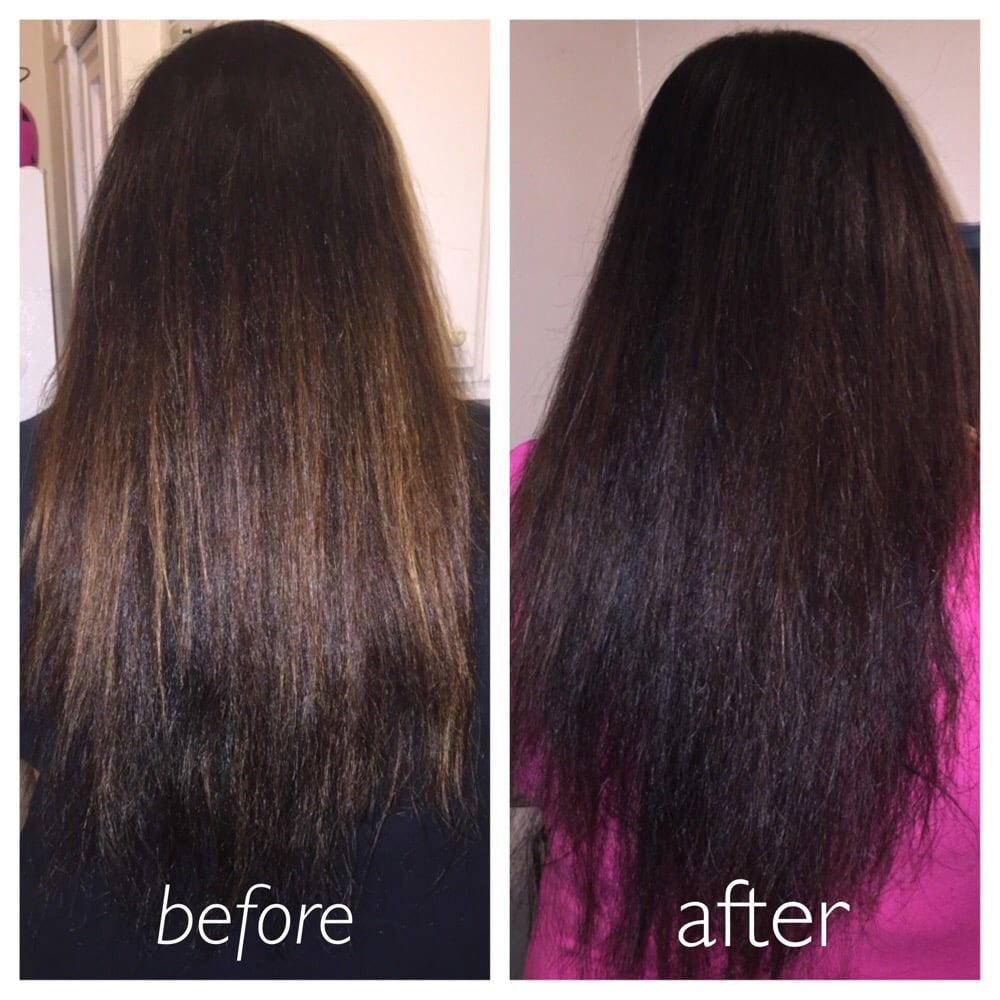 Before And After With Using Lush Henna Hair Dye Caca Noir 25 99 Yelp