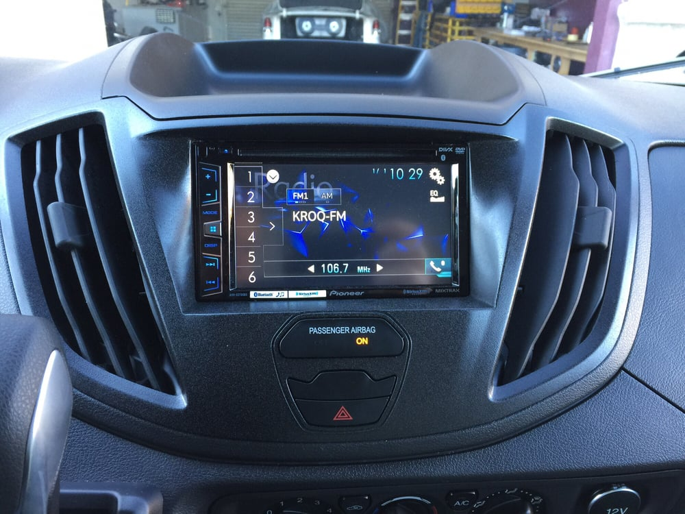 Ford Escape 2014 Custom >> Custom fabricated dash kit for a pioneer double din radio in 2016 Ford Transit connect van. - Yelp
