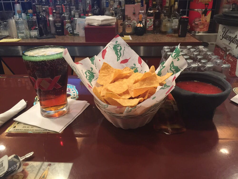 Dos equis with chips salsa yelp for Agave mexican cuisine