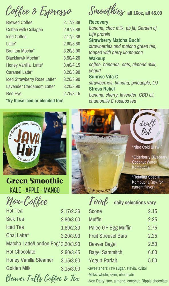Java Hut: 110 McMillen Ave, Beaver Falls, PA