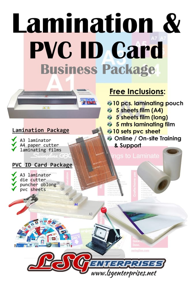 make pvc id card like a pro and offer lamination services as well ...