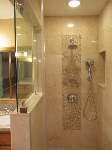 Tile Installers Near Me >> Crema Marfil Marble Shower - Yelp