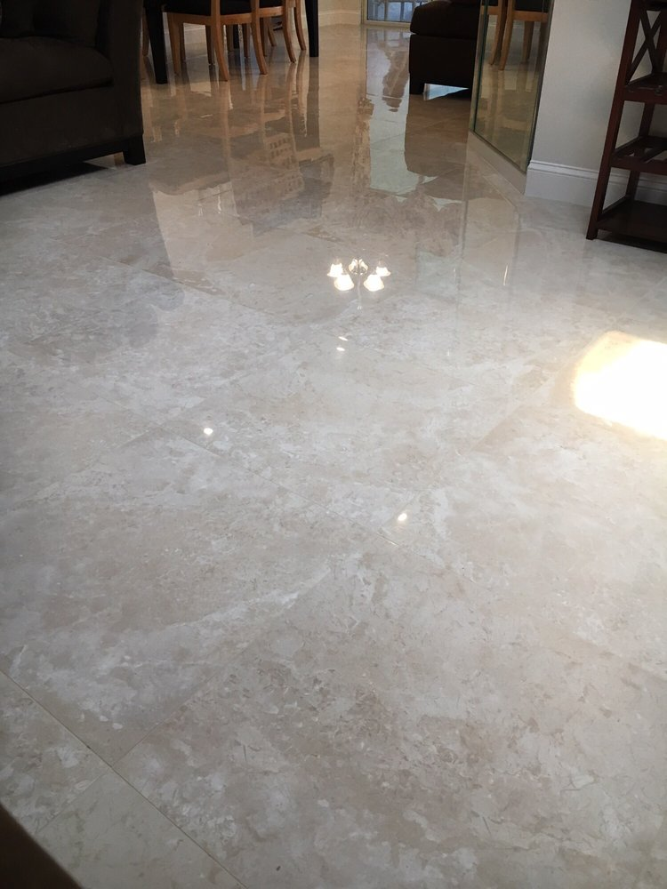 Polished Porcelain Tile 24x24 In Living Kitchen Dining And Foyer