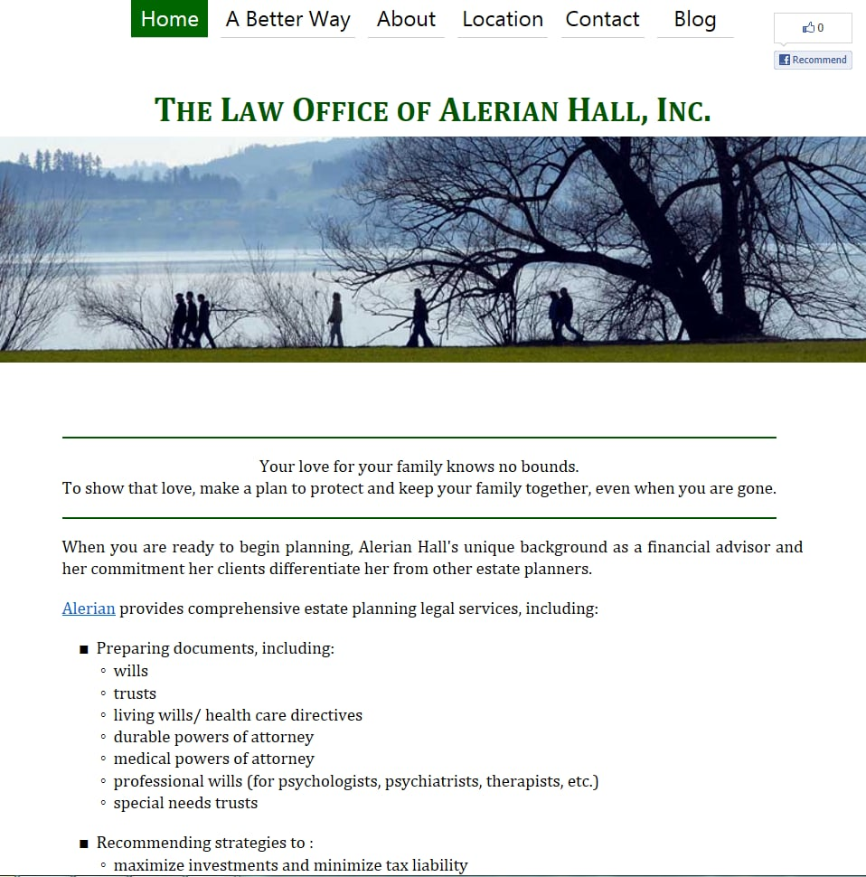 The Law Office of Alerian Hall, Inc. | 7801 Green Lake Dr N, Seattle, WA, 98103 | +1 (206) 923-9356