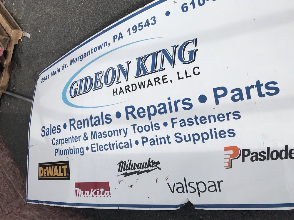 Gideon King Hardware: 2941 Main St, Morgantown, PA