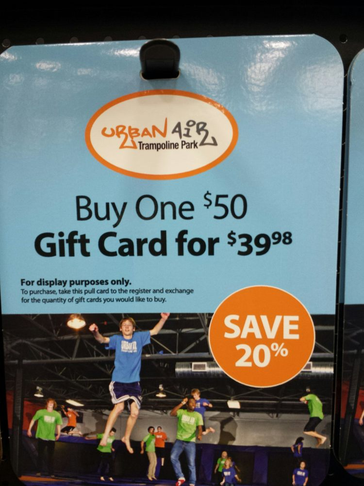 Urban Air Gift Cards Available At Sams Club Looks Like The Kids