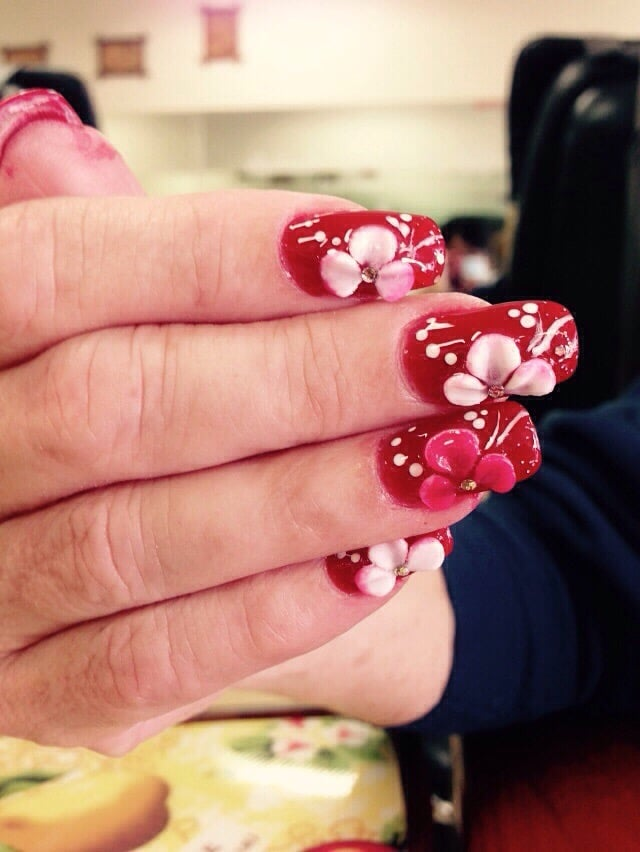 3d Nails Design With Powder Gel Sns Yelp