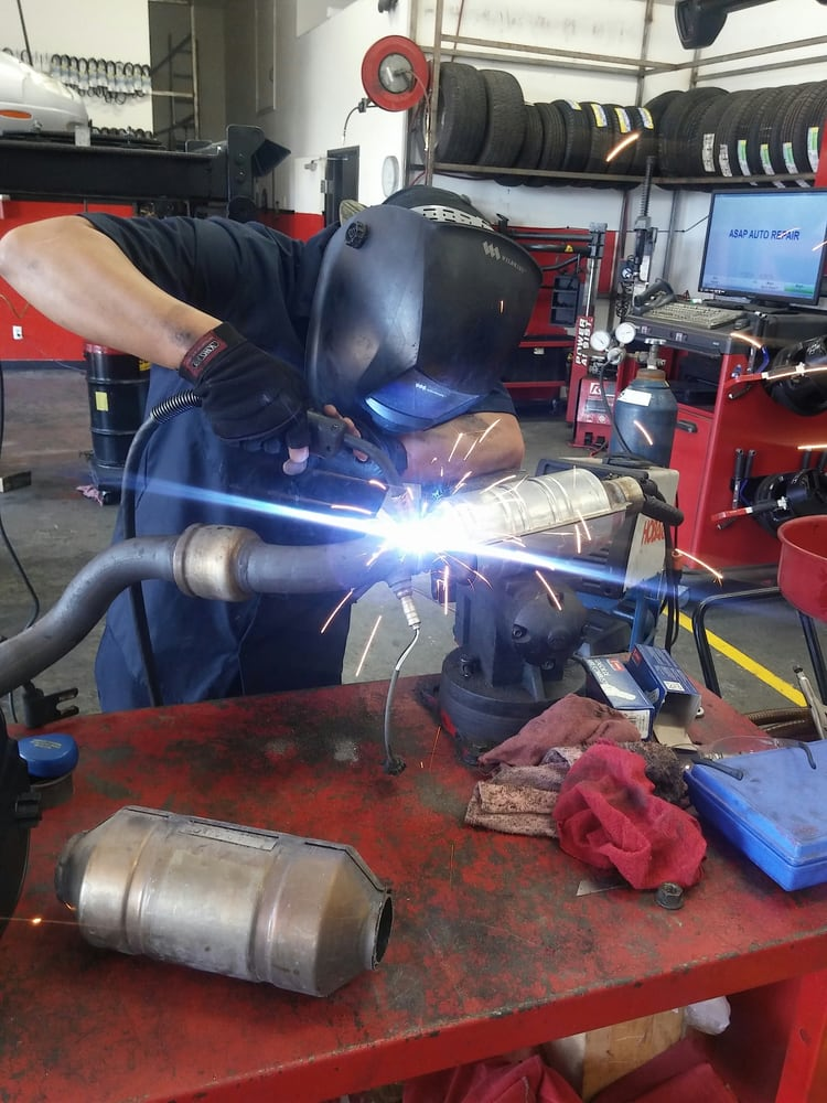 Photo Of Asap Auto Repair San Diego Ca United States Catalytic Converter: Welding Catalytic Converter At Woreks.co