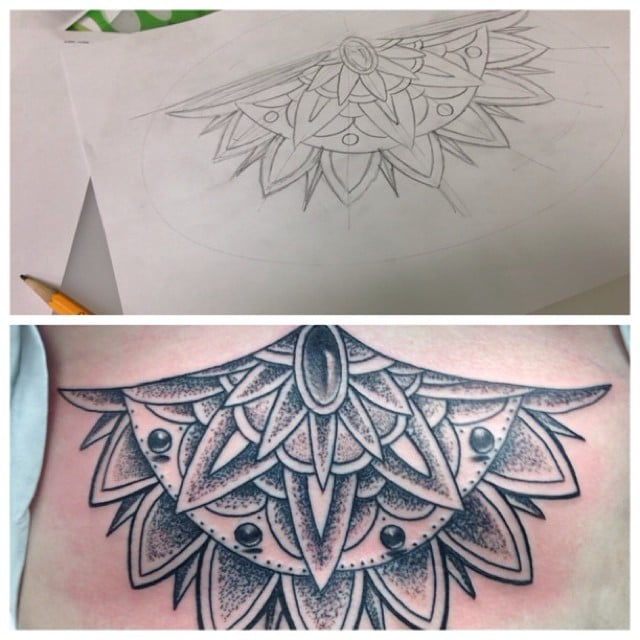 Mandala style tattoo done in austin tx by cory james for Cory james tattoo
