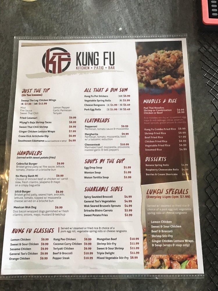 photo of kung fu kitchen san antonio tx united states menu - Kung Fu Kitchen