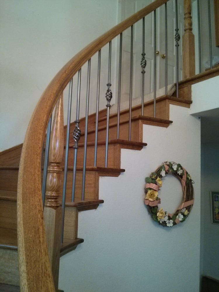 Photo Of Heath Stairworks   Rancho Cordova, CA, United States. Oak And Round
