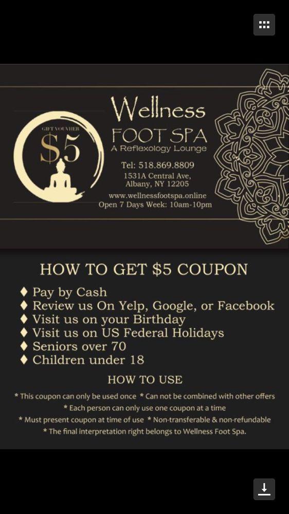 Wellness Foot Spa: 1531 Central Ave, Albany, NY