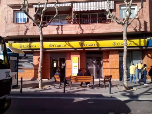 Oficina de correos posthuse carrer gran via de llu s for Oficina de correo barcelona