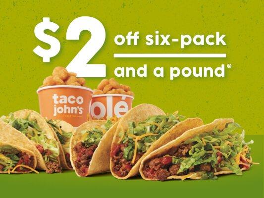 Taco John's: 410 Dakota Ave N, Huron, SD