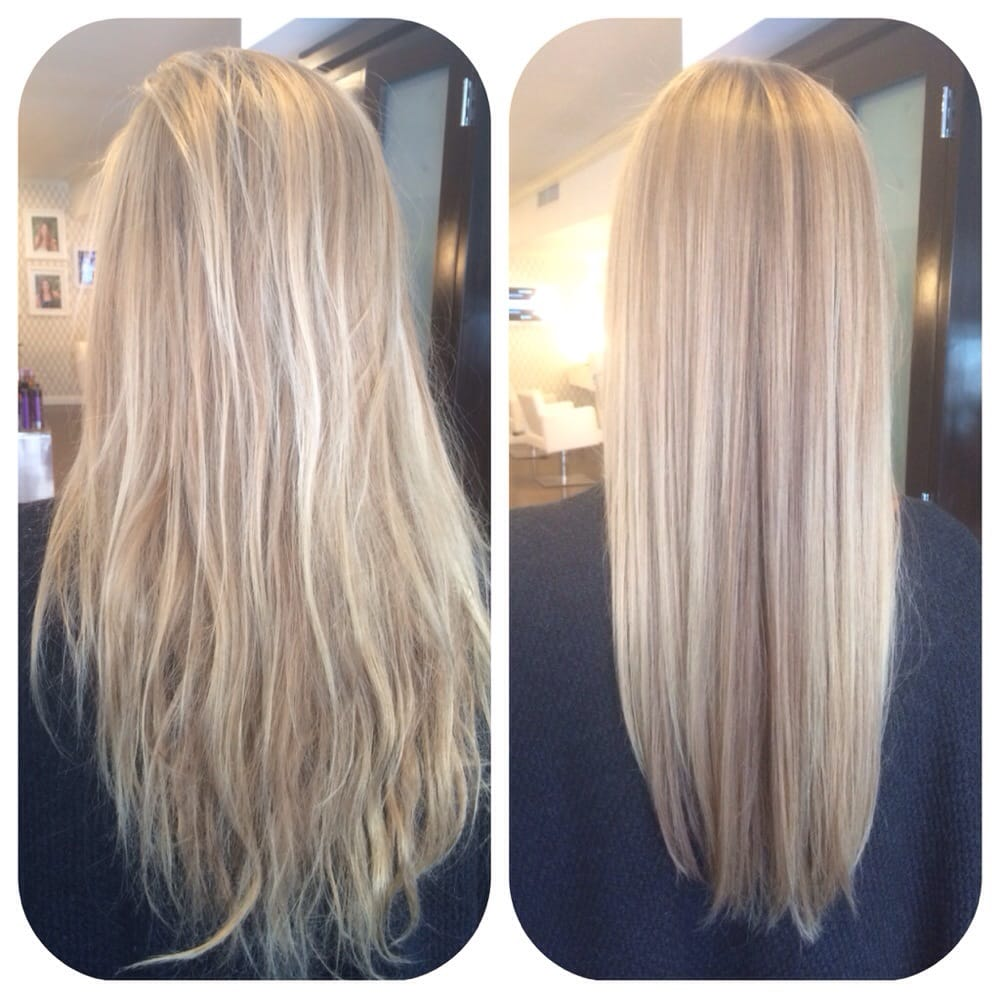Kerastase smoothing treatment before and after by bella salon of naples yelp - Kerastase salon treatment ...