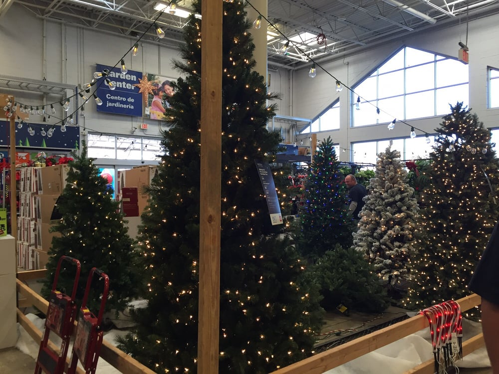 Lowes Christmas.Indoor Christmas Tree Lot Fake Trees Yelp