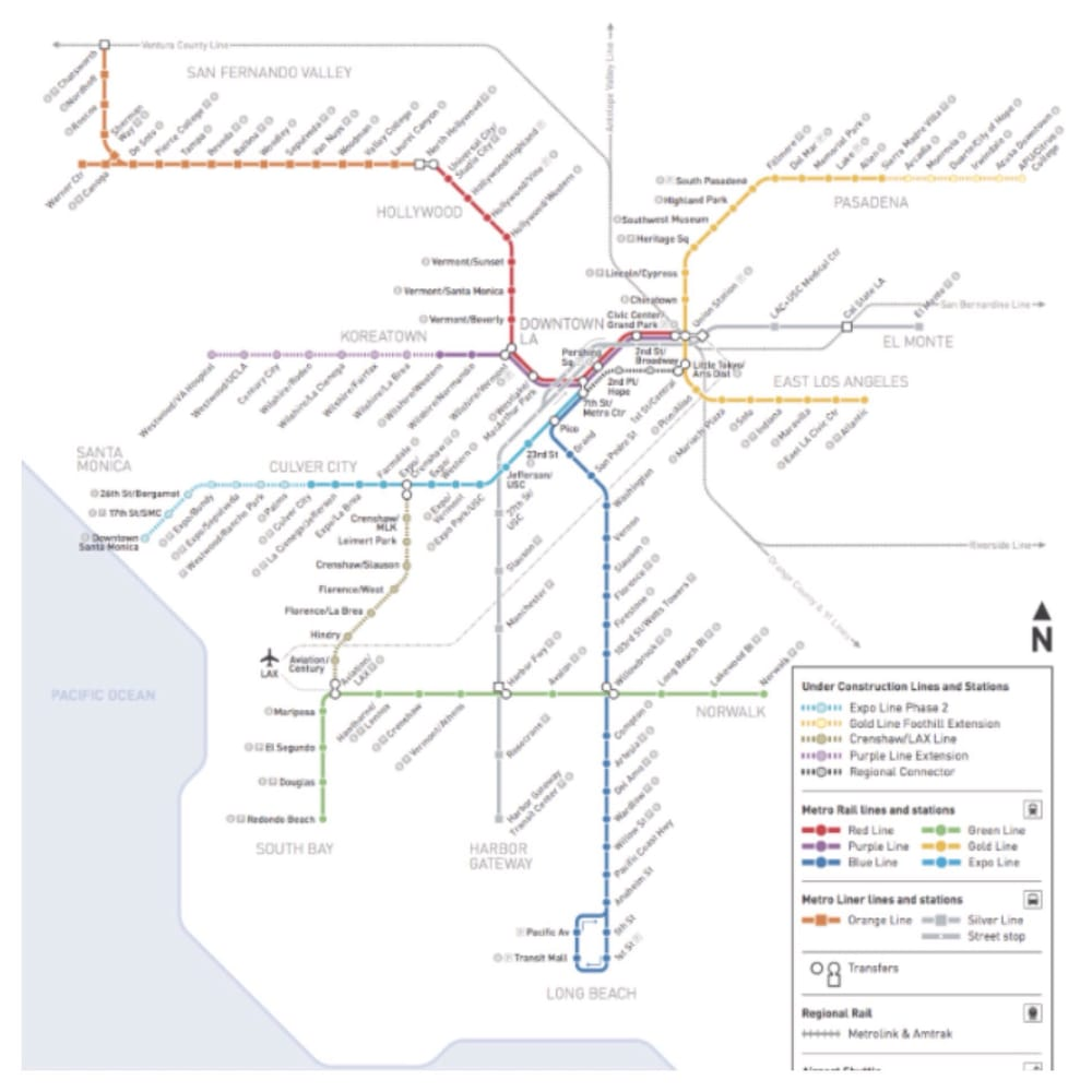 Los Angeles Subway Map 2016.The New Map Yelp