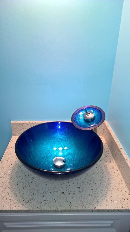 Bathroom Vanities Yelp geos ocean shell bathroom vanity countertop from euro stone craft