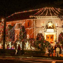 photo of balian house altadena ca united states the annual tradition of - Mansion Christmas Decorations