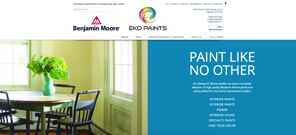One of our benjamin moore clients eko paints we for Benjamin moore eco spec paint reviews
